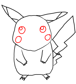 Step 5 - Step by Step Drawing Lesson : How to Draw Pikachu from Pokemon for Kids