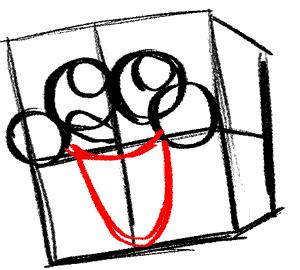 spongebob-5 Draw the outline of Spongebob's mouth.