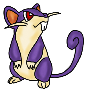 Rattata : How to draw pokemon characters Rattata Step by Step Lessons