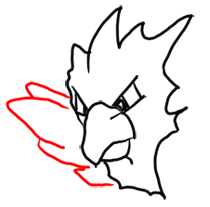 Step 5 How to Draw Spearow from Pokemon for Kids