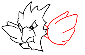 Step 6 How to Draw Spearow from Pokemon for Kids