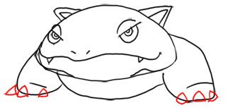 Step 7 - Step by Step Drawing Lesson : How to Draw Venusaur from Pokemon for Kids