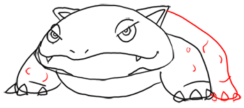 Step 8 - Step by Step Drawing Lesson : How to Draw Venusaur from Pokemon for Kids