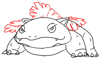 Step 9 - Step by Step Drawing Lesson : How to Draw Venusaur from Pokemon for Kids