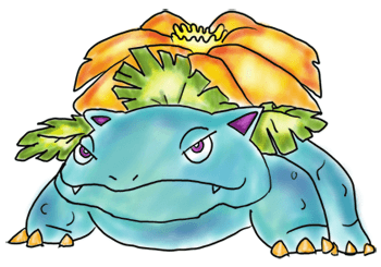 Finished Color Painting of Venusaur from Pokemon