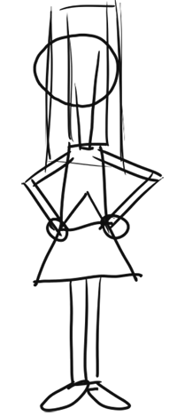 Step 1 - How to Draw Candace from Phineas and Ferb for Kids : Step by Step Drawing Lesson