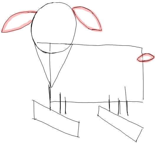 Step 2 How to Draw Cartoon Goats Step by Step Drawing Lessons