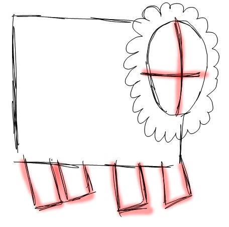 Step 2 How to Draw Cartoon Sheep / Lambs Step by Step Drawing Lessons