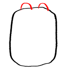 Step 2 How to Draw Wubbzy from Wow Wow Wubbzy Step by Step Drawing Tutorial for Preschoolers