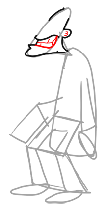 Step 3 How to Draw Dr. Doofenshmirtz from Phineas and Ferb for Kids : Step by Step Drawing Lesson