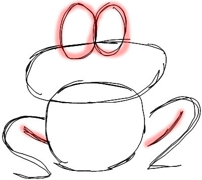 Step 3 How to Draw Cartoon Frogs Step by Step Drawing Lessons
