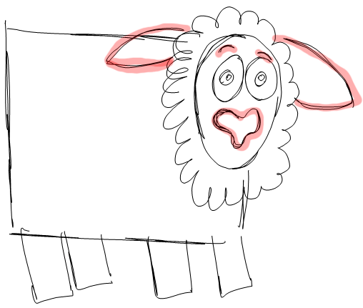Step 4 How to Draw Cartoon Sheep / Lambs Step by Step Drawing Lessons