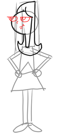 Step 4 How to Draw Candace from Phineas and Ferb for Kids : Step by Step Drawing Lesson