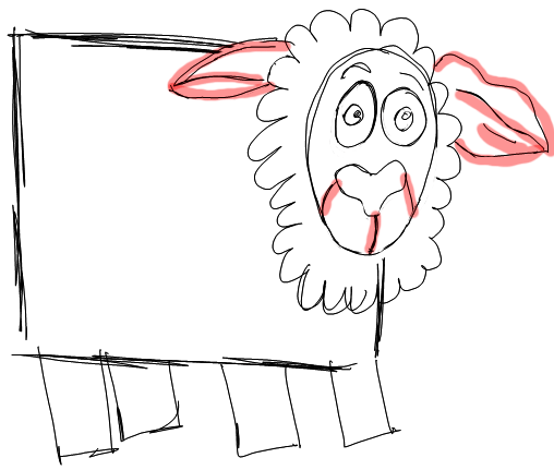 Step 5 How to Draw Cartoon Sheep / Lambs Step by Step Drawing Lessons