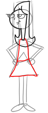 Step 5 - How to Draw Candace from Phineas and Ferb for Kids : Step by Step Drawing Lesson