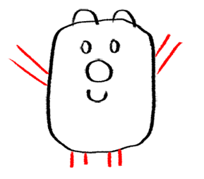 Step 5 How to Draw Wubbzy from Wow Wow Wubbzy Step by Step Drawing Tutorial for Preschoolers