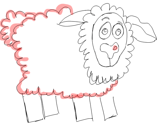 Step 6 How to Draw Cartoon Sheep / Lambs Step by Step Drawing Lessons