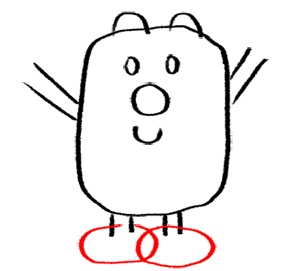 Step 6 How to Draw Wubbzy from Wow Wow Wubbzy Step by Step Drawing Tutorial for Preschoolers