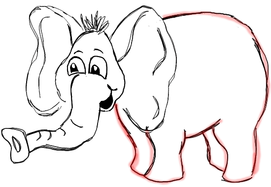 Step 7 How to Draw Cartoon Elephants / African Animals Step by Step Drawing Tutorial for Kids