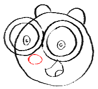 Step 7 How to Draw Walden from Wow Wow Wubbzy Step by Step Drawing Tutorial for Preschoolers