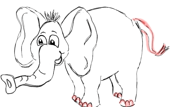 Step 8 How to Draw Cartoon Elephants / African Animals Step by Step Drawing Tutorial for Kids