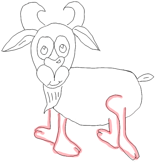 Step 8 How to Draw Cartoon Goats Step by Step Drawing Lessons