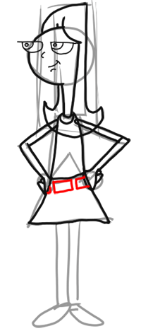 Step 8 How to Draw Candace from Phineas and Ferb for Kids : Step by Step Drawing Lesson