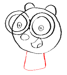 Step 8 How to Draw Walden from Wow Wow Wubbzy Step by Step Drawing Tutorial for Preschoolers