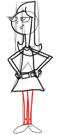 Step 9 How to Draw Candace from Phineas and Ferb for Kids : Step by Step Drawing Lesson