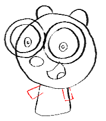 Step 9 How to Draw Walden from Wow Wow Wubbzy Step by Step Drawing Tutorial for Preschoolers