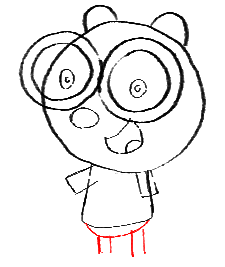 Step 10 How to Draw Walden from Wow Wow Wubbzy Step by Step Drawing Tutorial for Preschoolers