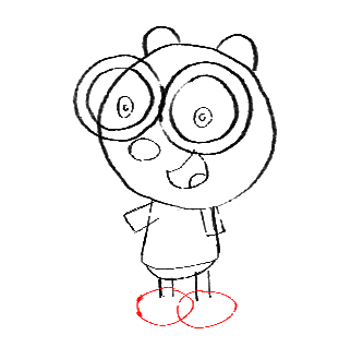Step 11 How to Draw Walden from Wow Wow Wubbzy Step by Step Drawing Tutorial for Preschoolers