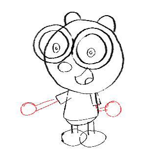 Step 12 How to Draw Walden from Wow Wow Wubbzy Step by Step Drawing Tutorial for Preschoolers