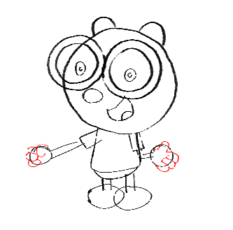 Step 14 How to Draw Walden from Wow Wow Wubbzy Step by Step Drawing Tutorial for Preschoolers