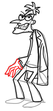 14-How to Draw Dr. Doofenshmirtz from Phineas and Ferb for Kids : Step by Step Drawing Lesson