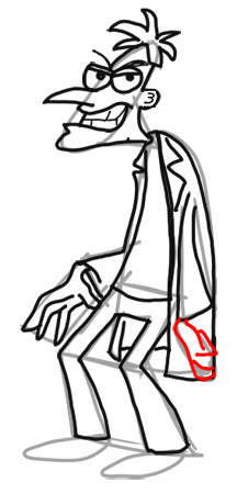 15-How to Draw Dr. Doofenshmirtz from Phineas and Ferb for Kids : Step by Step Drawing Lesson
