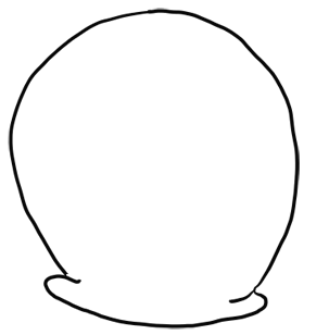 Step 1 How to Draw Gary Snail from Spongebob Squarepants Step by Step Drawing Tutorials