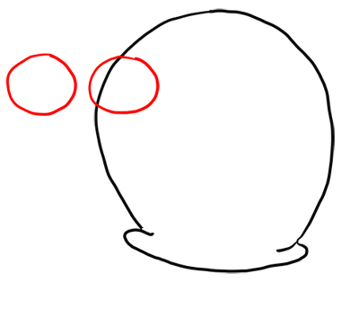 Step 2 How to Draw Gary Snail from Spongebob Squarepants Step by Step Drawing Tutorials