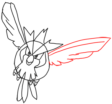 Step 10 How to Draw Pidgey from Pokemon for Kids : Step by Step Drawing Lesson