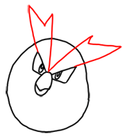 Step 3 How to Draw Pidgey from Pokemon for Kids : Step by Step Drawing Lesson