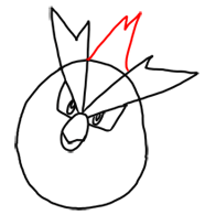 Step 4 How to Draw Pidgey from Pokemon for Kids : Step by Step Drawing Lesson