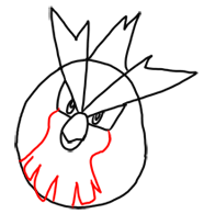 Step 5 How to Draw Pidgey from Pokemon for Kids : Step by Step Drawing Lesson