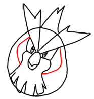 Step 6 How to Draw Pidgey from Pokemon for Kids : Step by Step Drawing Lesson