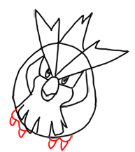 Step 7 How to Draw Pidgey from Pokemon for Kids : Step by Step Drawing Lesson