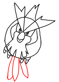 Step 8 How to Draw Pidgey from Pokemon for Kids : Step by Step Drawing Lesson