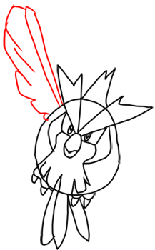 Step 9 How to Draw Pidgey from Pokemon for Kids : Step by Step Drawing Lesson