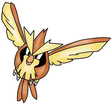How to Draw Pidgey from Pokemon for Kids Color Tutorial