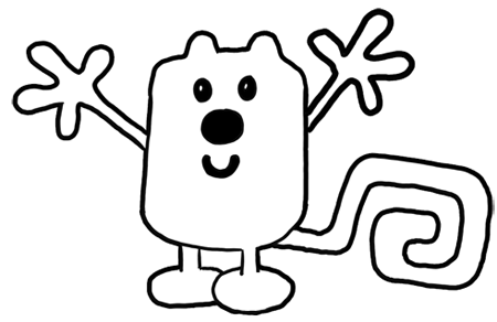How to Draw Wubbzy from Wow Wow Wubbzy Step by Step Drawing Tutorial for Preschoolers