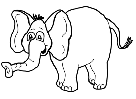 How To Draw Cartoon Elephants African Animals Step By Step Drawing