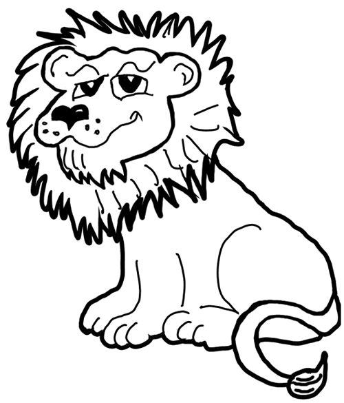 Line Drawing Jungle : How to draw cartoon lions jungle animals step by